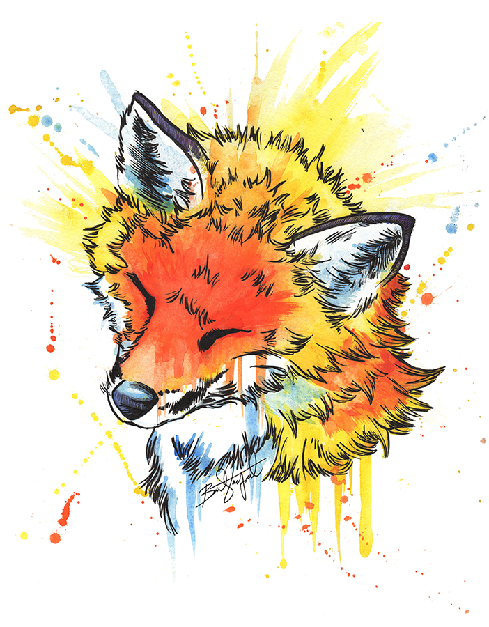 Fox (watercolor)