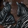 Zebras playing chess
