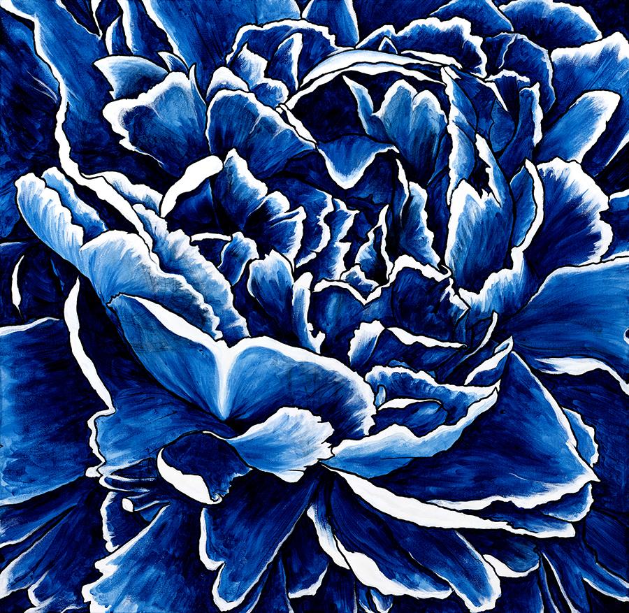 Azure (Blue Peony) by Beth Naeyaert